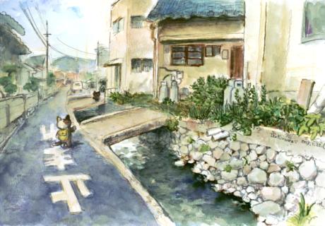 水路 マイ橋 風景