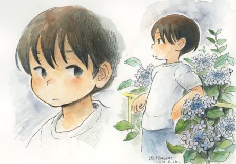 紫陽花 アジサイ 少年