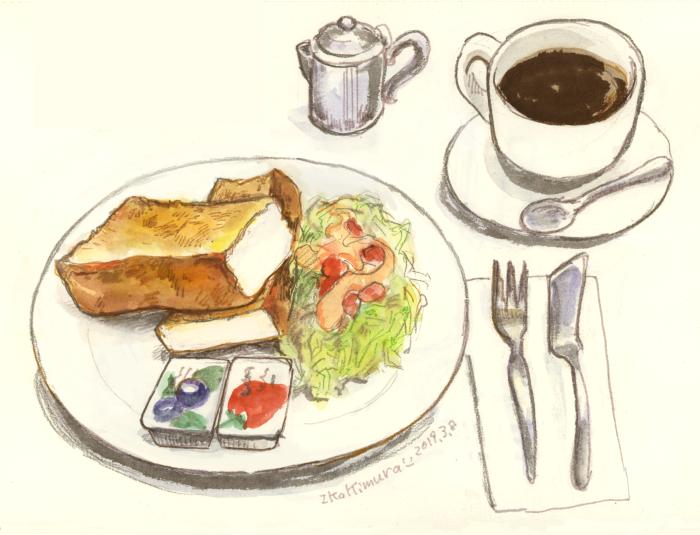モーニング トースト 喫茶店