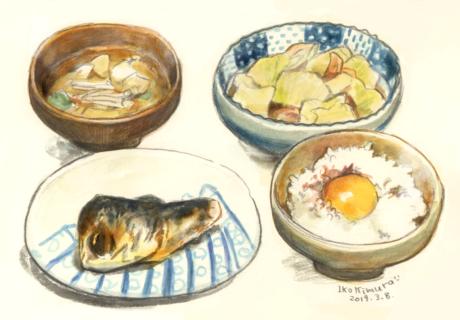 夕飯 定食 サバ