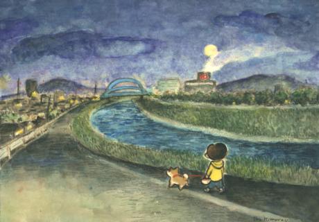 夜さんぽ-川
